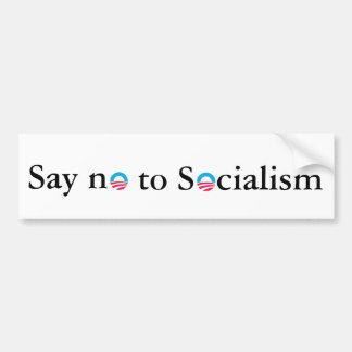 Lehnen Sie Sozialismus ab Autoaufkleber
