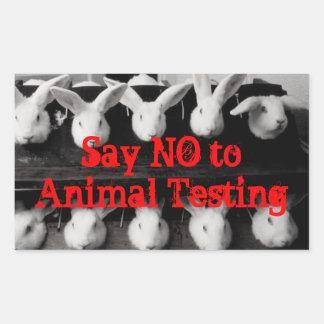 Lehnen Sie Tierversucheaufkleber ab Rechteckiger Aufkleber