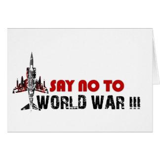 Lehnen Sie Weltkrieg 3 ab Karte