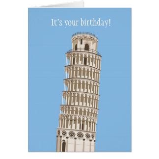 Lehnender Turm-Geburtstags-Karte Karte
