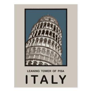 Lehnender Turm Italiens von Pisa Postkarte