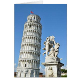Lehnender Turm und La-Fontana dei Putti Statue, Karte