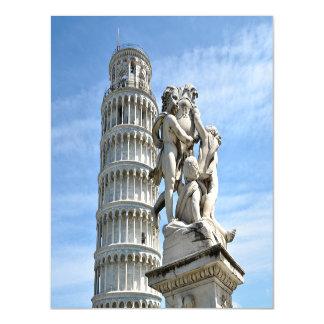 Lehnender Turm und La-Fontana dei Putti Statue, Magnetische Karte