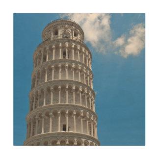 Lehnender Turm von Pisa in Italien Holzwanddeko