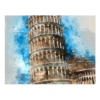 Lehnender Turm von Pisa in Italien Postkarte