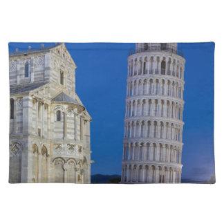 Lehnender Turm von Pisa nachts Tischset