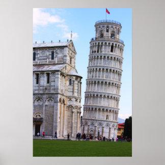 Lehnender Turm von Pisa Plakate