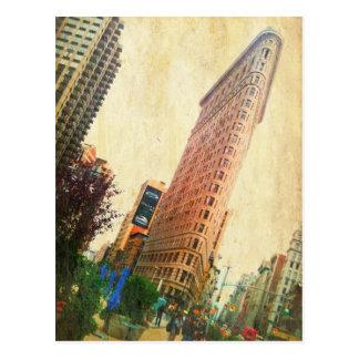 lehnendes Flatiron Gebäude Postkarte