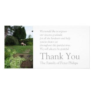 Lehnsessel-Beileid des Garten-4 danken Ihnen 2 Karte
