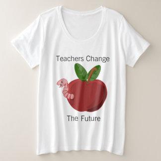 Lehrer ändern die Zukunft Große Größe T-Shirt