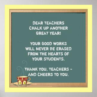 Lehrer-Anerkennung Poster