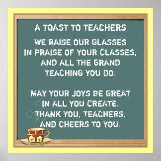 Lehrer-Anerkennungs-Gedicht Poster