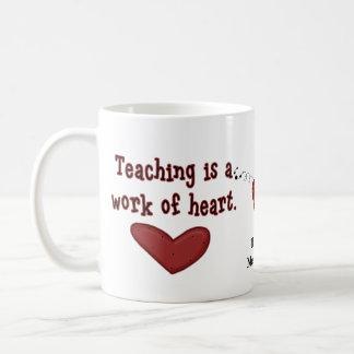 Lehrer-Anerkennungs-Herz-Tasse Tasse