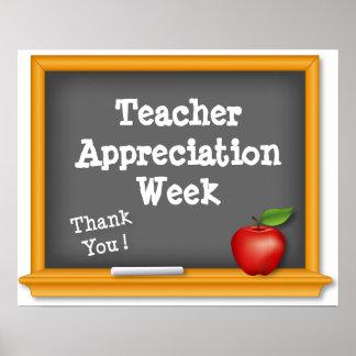 Lehrer-Anerkennungs-Wochen-Plakat, danke! Poster