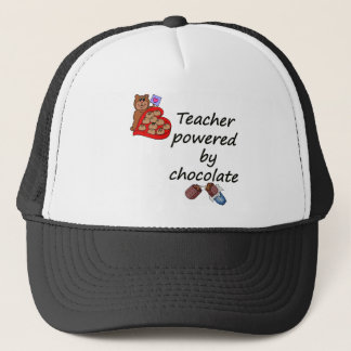 Lehrer angetrieben durch Schokolade Truckerkappe