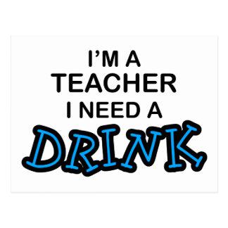 Lehrer-Bedarf ein Getränk Postkarten