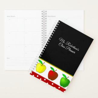 Lehrer-bunte Apfel-täglicher Planer
