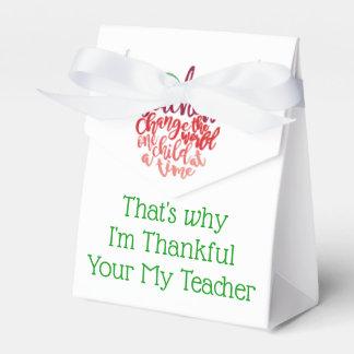 Lehrer-dankbare Leckerei-Kästen für Nahrung oder Geschenkschachtel