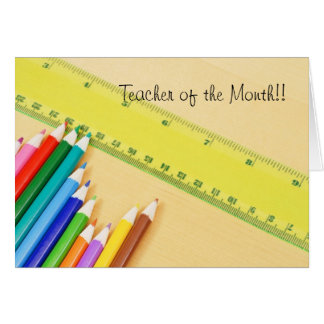 Lehrer des Monats Karte