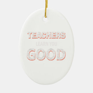 Lehrer, die gehen, Sie zu lernen gutes Ovales Keramik Ornament
