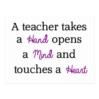 Lehrer-einzigartiges Zitat-Geschenk Postkarte