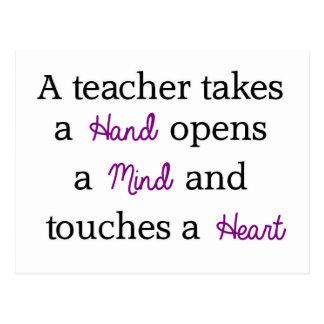 Lehrer-einzigartiges Zitat-Geschenk Postkarten