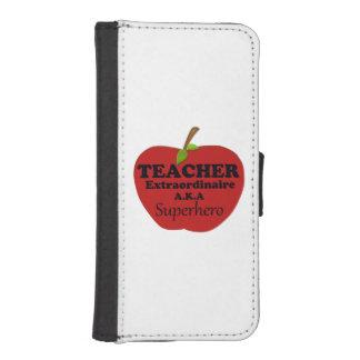 Lehrer Extraordinaire iPhone SE/5/5s Geldbeutel Hülle