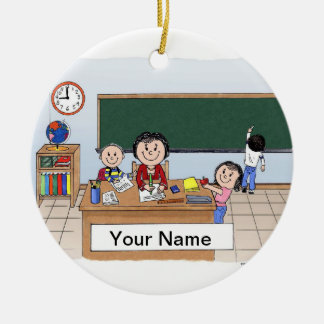 Lehrer - Frau Keramik Ornament