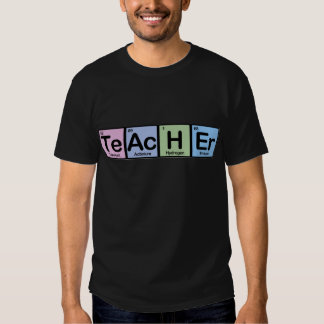 Lehrer gemacht von den Elementen Tshirts