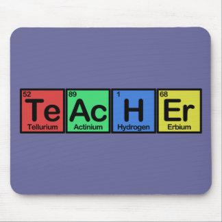 Lehrer gemacht von den Elementfarben Mauspad
