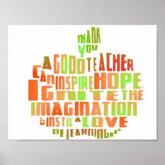 Lehrer-Geschenk-Plakat-Typografie-Zitat Apple Poster