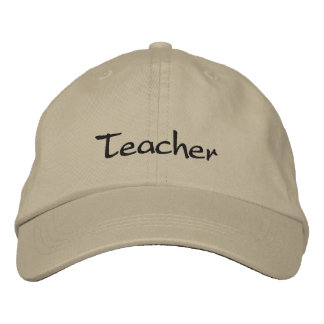Lehrer gestickter Kappen-Dunkelheits-Stich Bestickte Baseballkappe