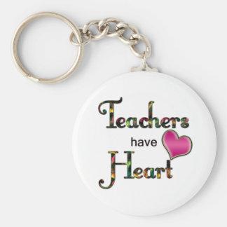 Lehrer haben Herz Standard Runder Schlüsselanhänger