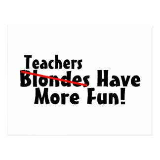 Lehrer haben mehr Spaß Postkarten