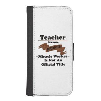 Lehrer iPhone SE/5/5s Geldbeutel