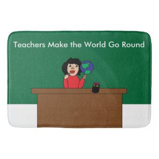 Lehrer lassen die Welt sich drehen Badematten