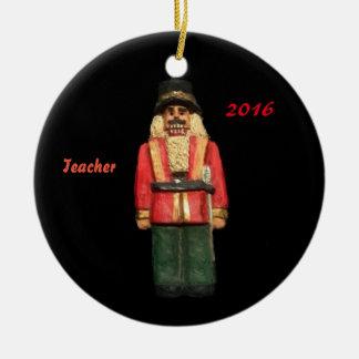 LEHRER-NUSSKNACKER-WEIHNACHTSkollektor-VERZIERUNG Keramik Ornament