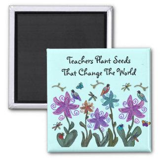 Lehrer-Pflanze sät Magneten Quadratischer Magnet