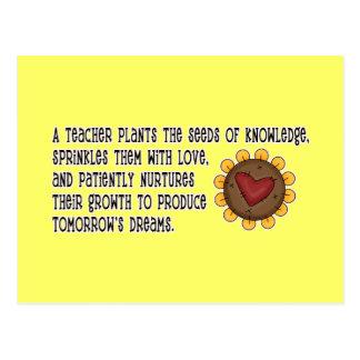 Lehrer-Pflanzen-Samen-T-Shirts und Geschenke Postkarten