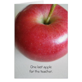 Lehrer-Ruhestand Apple kardiert Karte