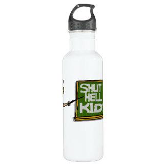 Lehrer sagt, dass oben geschlossen scherzt trinkflasche