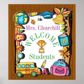 Lehrer-Schulwillkommens-Plakat Poster
