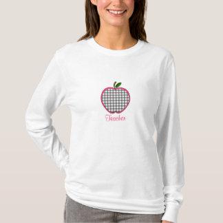 Lehrer-Shirt - grauer Gingham Apple T-Shirt