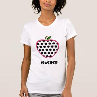 Lehrer-Shirt - Polka-Punkt Apple