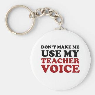 Lehrer-Stimme Standard Runder Schlüsselanhänger