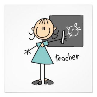 Lehrer-Strichmännchen Ankündigungskarte