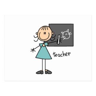 Lehrer-Strichmännchen Postkarten