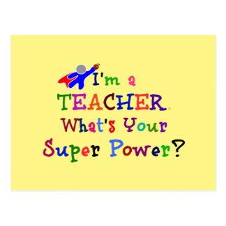 Lehrer-Superheld Postkarte