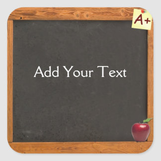 Lehrer-Tafel Quadratischer Aufkleber