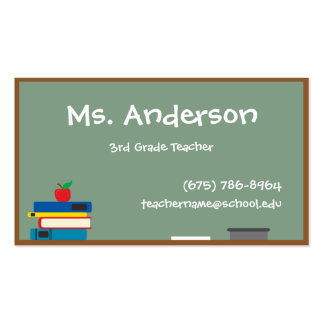 Lehrer-Tafel-Visitenkarte Visitenkarten